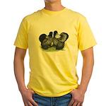 Gray Silkies Yellow T-Shirt