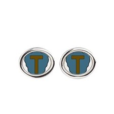 36th Infantry Division.png Oval Cufflinks