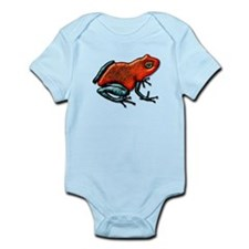 Shiny Red and Green Poison Dart Frog Body Suit