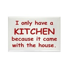 Kitchen Humor Rectangle Magnet