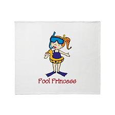 Pool Princess Throw Blanket
