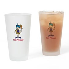 Pool Princess Drinking Glass