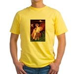 Angel & Golden Retrieve Yellow T-Shirt