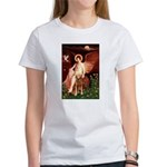 Angel & Golden Retrieve Women's T-Shirt