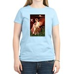 Angel & Golden Retrieve Women's Light T-Shirt