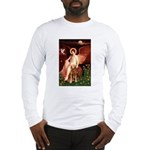 Angel & Golden Retrieve Long Sleeve T-Shirt