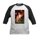 Angel & Golden Retrieve Kids Baseball Jersey