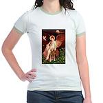 Angel & Golden Retrieve Jr. Ringer T-Shirt