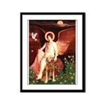 Angel & Golden Retrieve Framed Panel Print