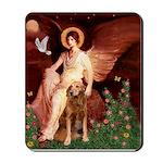 Angel & Golden Retrieve Mousepad