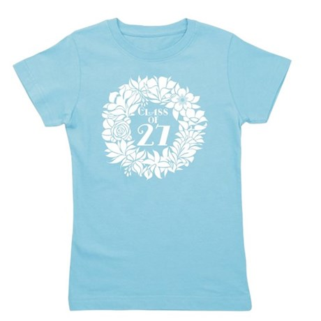 Class Of 2027 floral Girl's Tee