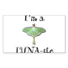 I'm A LUNA-tic Rectangle Stickers