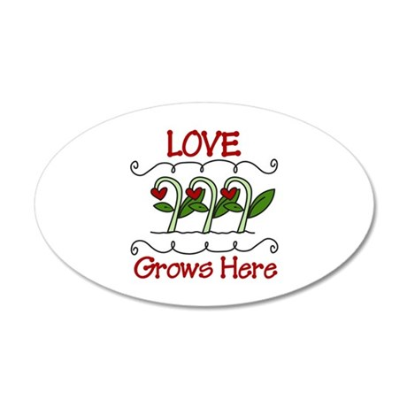 Love Grows Here Wall Decal