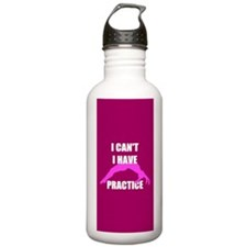 I Can't I have tumbling practice Water Bottle