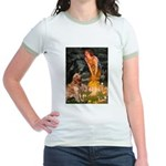 Fairies & Golden Jr. Ringer T-Shirt