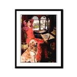 The Lady's Golden Framed Panel Print