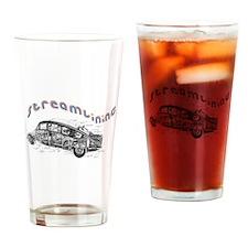Vintage Motorsports Drinking Glass