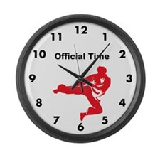 Martial Arts School Large Wall Clock