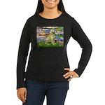 Lilies & Golden Women's Long Sleeve Dark T-Shirt