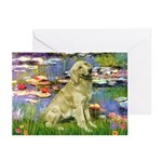Lilies & Golden Greeting Cards (Pk of 10)