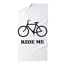 Bike ride me Beach Towel