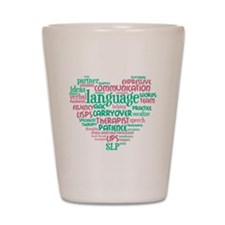 SLP Heart - Pink and Green Shot Glass