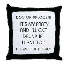 DOCTOR-PALOOZA Throw Pillow