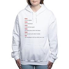 We are triplets Women's Hooded Sweatshirt