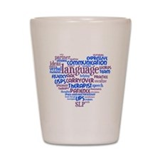 SLP Heart - Blue and Purple Shot Glass