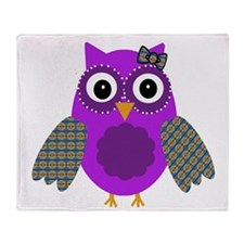 Adorable Owl Throw Blanket
