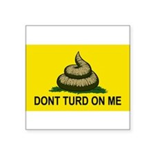 "Funny poop Square Sticker 3"" x 3"""