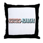 Retro-Rama Design Throw Pillow