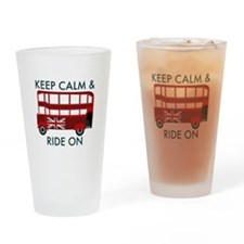 Keep Calm & Ride On Drinking Glass