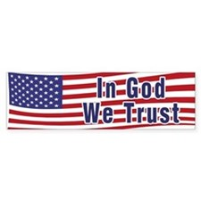 In God We Trust (bumper) Bumper Bumper Sticker