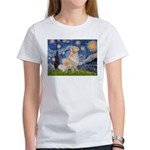 Starry Night & Golden Women's T-Shirt