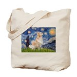 Starry Night & Golden Tote Bag