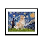 Starry Night & Golden Framed Panel Print