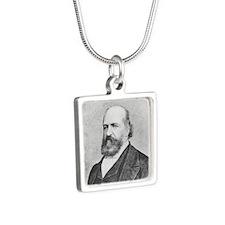 Eliphas Levi Silver Square Necklace Necklaces