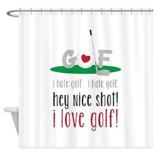 I Love Golf Shower Curtain
