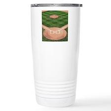 Baseball Diamond Stainless Steel Travel Mug