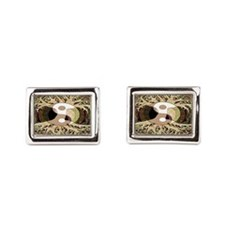 Cute Yin yang tree Rectangular Cufflinks
