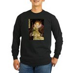 The Queen's Golden Long Sleeve Dark T-Shirt