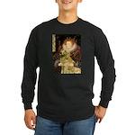 The Queen's Golden Long Sleeve Dark T-Shirt