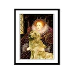The Queen's Golden Framed Panel Print