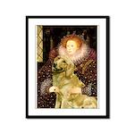 The Queen's Golden Framed Panel Print