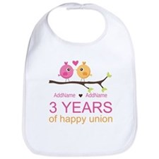 3rd Year Anniversary Personalized Bib