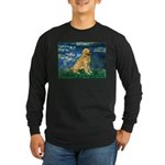 Lilies (#5) & Golden (1B) Long Sleeve Dark T-Shirt
