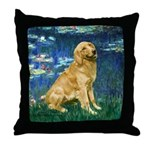 Lilies (#5) & Golden (1B) Throw Pillow