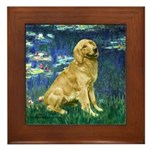 Lilies (#5) & Golden (1B) Framed Tile