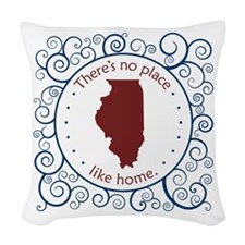 Illinois Woven Throw Pillow